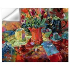 Sienna Bouquet (oil on canvas) Wall Decal