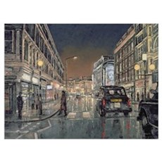 Shaftesbury Avenue, 2004 (oil on canvas) Poster