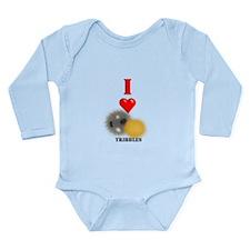I Heart Tribbles Long Sleeve Infant Bodysuit