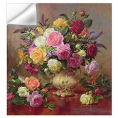 Roses from a Victorian Garden (oil on canvas) Wall Decal