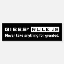 NCIS Gibb's Rule #8 Sticker (Bumper)