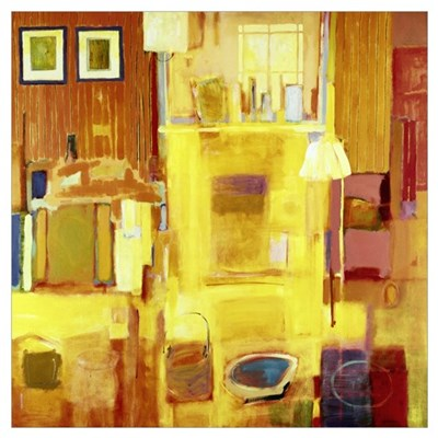 Room at Giverny, 2000 (acrylic on canvas) Poster