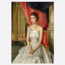 Queen Elizabeth II (b.1926) (oil on canvas)