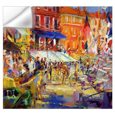 Port Promenade, Saint-Tropez (oil on canvas) Wall Decal