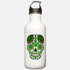 Shamrock Sugar Skull Water Bottle