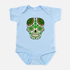 Shamrock Sugar Skull Infant Bodysuit
