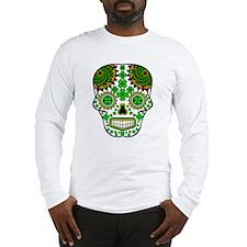 Shamrock Sugar Skull Long Sleeve T-Shirt