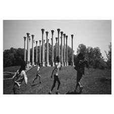 Four children playing in a park, Capitol Columns,