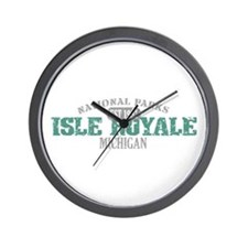 Isle Royale National Park MI Wall Clock