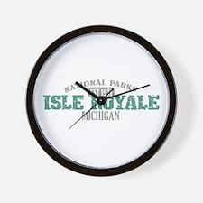 Isle Royale National Park MI Wall Clock