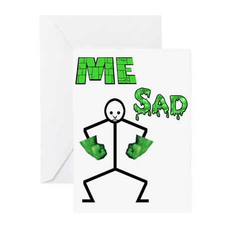 Hulk Sad Greeting Cards (Pk of 20)