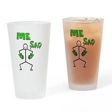 Hulk Sad Drinking Glass