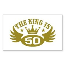 The King is 50 Decal