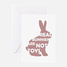 REAL BUNNIES ARE NOT TOYS - P Greeting Cards (Pk o