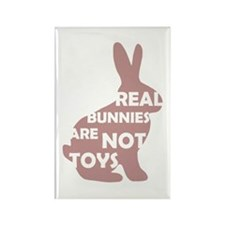 REAL BUNNIES ARE NOT TOYS - P Rectangle Magnet