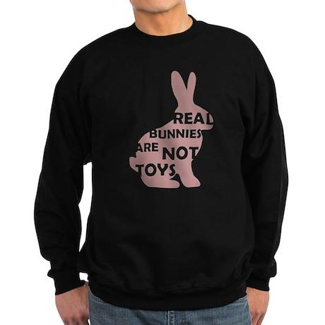 REAL BUNNIES ARE NOT TOYS - P Sweatshirt (dark)