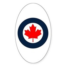 Rcaf Roundel Sticker (oval)