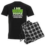 I See Drunk People Men's Dark Pajamas