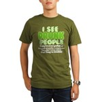 I See Drunk People Organic Men's T-Shirt (dark)