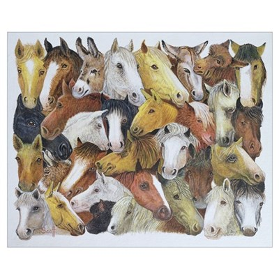 Horses Horses (oil on canvas) Poster