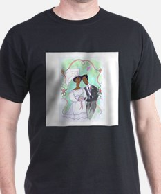 Bride and Groom Black T-Shirt