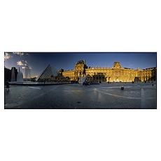 Facade of a museum, Musee Du Louvre, Paris, France Poster