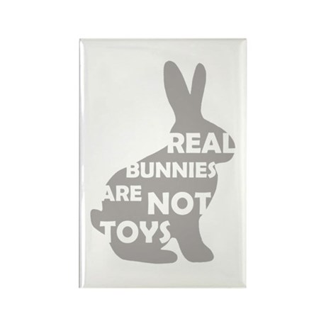 REAL BUNNIES ARE NOT TOYS - G Rectangle Magnet