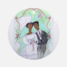 Bride and Groom Ornament (Round)