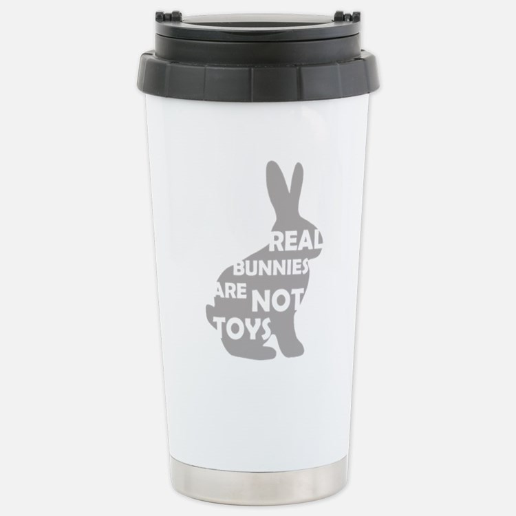 REAL BUNNIES ARE NOT TOYS - G Travel Mug