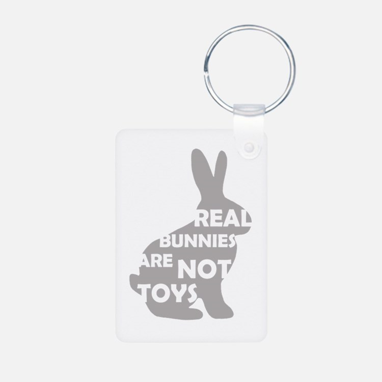 REAL BUNNIES ARE NOT TOYS - G Keychains