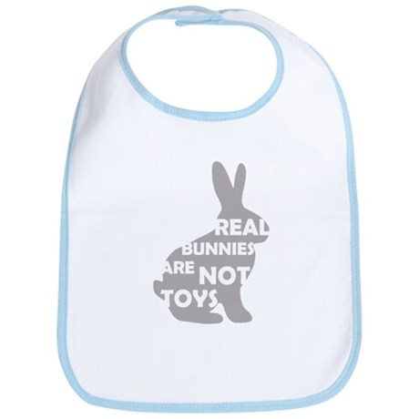 REAL BUNNIES ARE NOT TOYS - G Bib