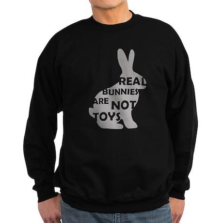 REAL BUNNIES ARE NOT TOYS - G Sweatshirt (dark)