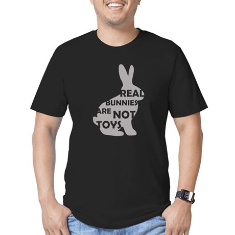REAL BUNNIES ARE NOT TOYS - G Men's Fitted T-Shirt