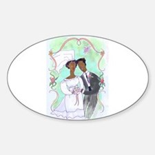 Bride and Groom Oval Decal