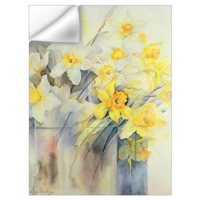 Mixed Daffodils in a Tank Wall Decal