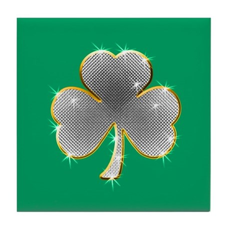 Clover Bling Tile Coaster