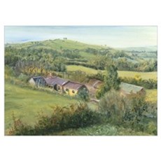Meadow Farm Cottage, 1999 (oil on canvas) Poster