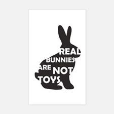 REAL BUNNIES ARE NOT TOYS - B Decal