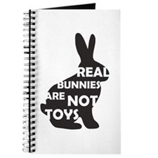 REAL BUNNIES ARE NOT TOYS - B Journal