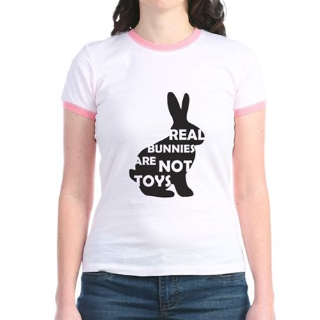 REAL BUNNIES ARE NOT TOYS - B Jr. Ringer T-Shirt