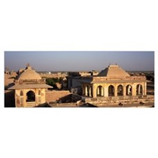 High angle view of a fort, Nagaur Fort, Nagaur, Ra Framed Print