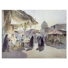 Light and Shade, Shiraz Bazaar, 1994 (w/c on paper Canvas Art