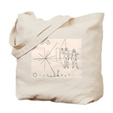 Cute Pioneer plaque Tote Bag