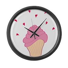 Cute Cupcake Large Wall Clock