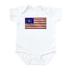 Bennington 1776 Flag Infant Bodysuit