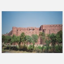 Low angle view of a fort, Red Fort, Agra, Uttar Pr