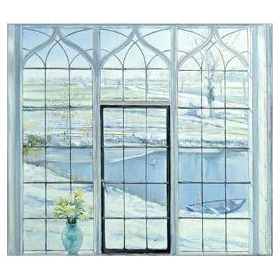 Winter Triptych, 1990 (oil on canvas) Poster