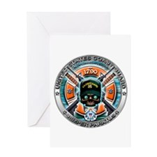 US Coast Guard 1790 Skull Greeting Card