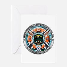 US Coast Guard 1790 Skull Greeting Card