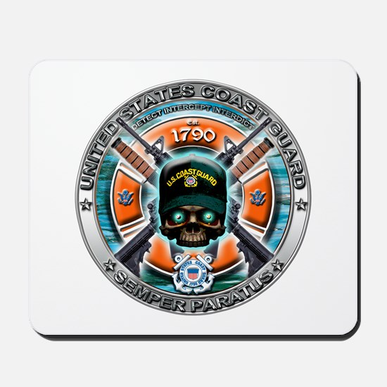 US Coast Guard 1790 Skull Mousepad